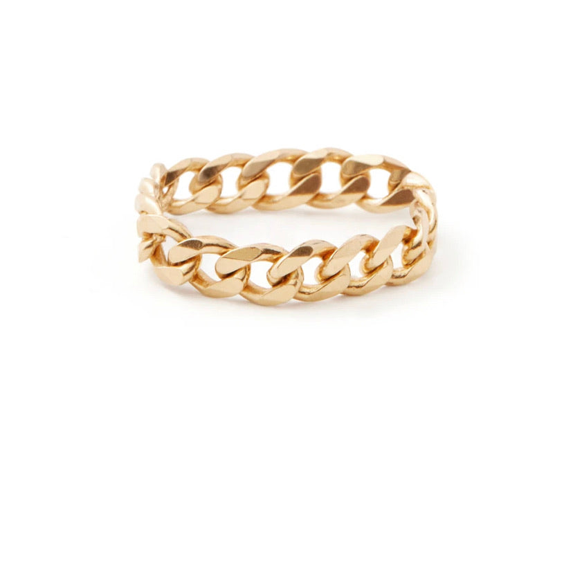 Curb Chain Ring in Gold / Silver