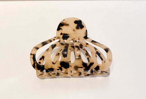 Beige & Brown Animal Print Hair Clip