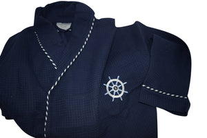 Sailor Waffle Robe with Embroidery - 30 Pieces