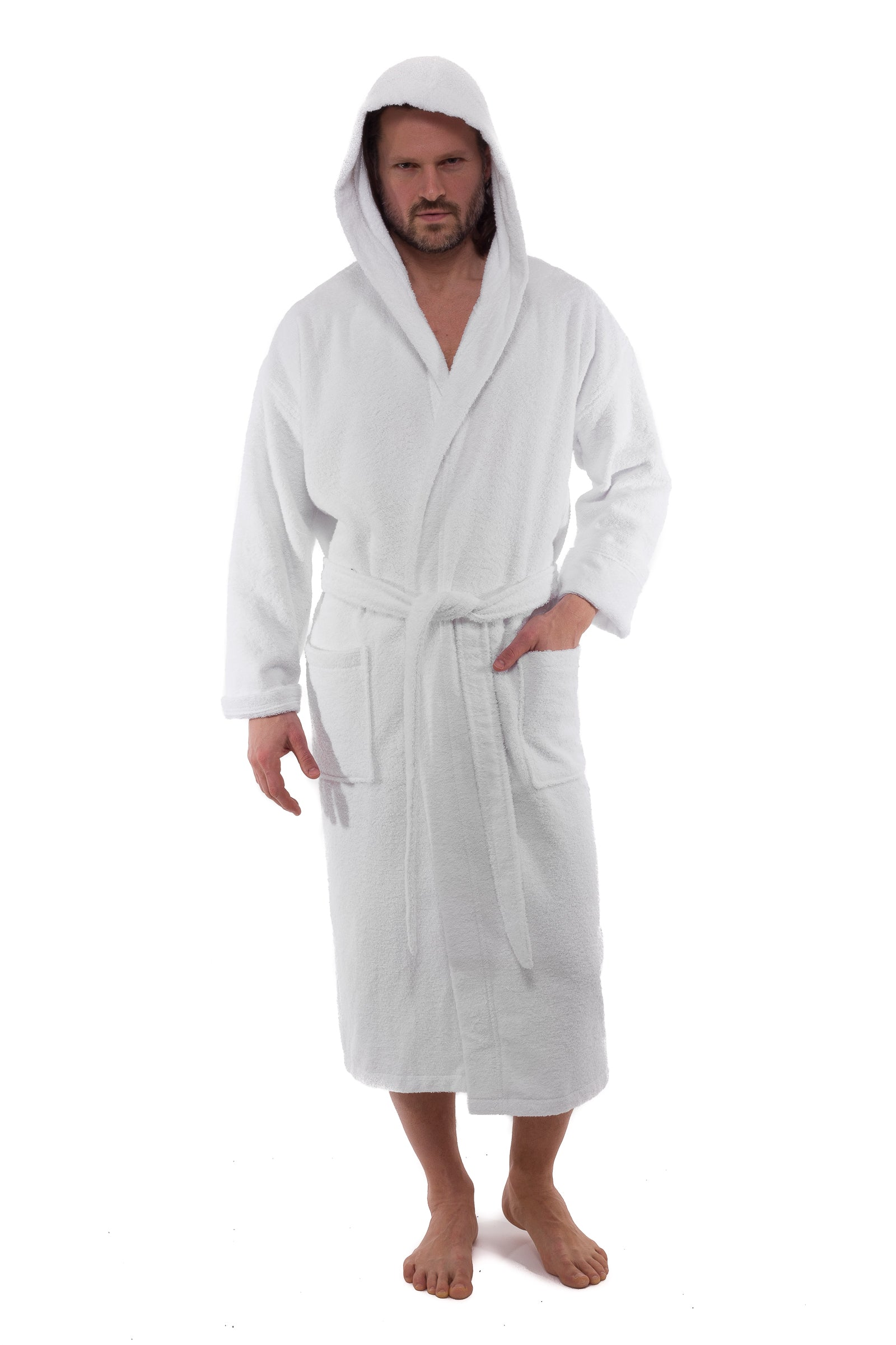 Hooded Terry Turkish Cotton Bathrobes - 10 Pieces