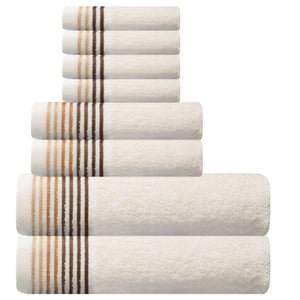 Dimora Turkish Cotton Towel Set of 8 (10 Sets)