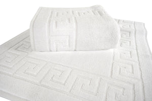 Cambridge Turkish Cotton Greek Key Bathmat - 44 Pieces