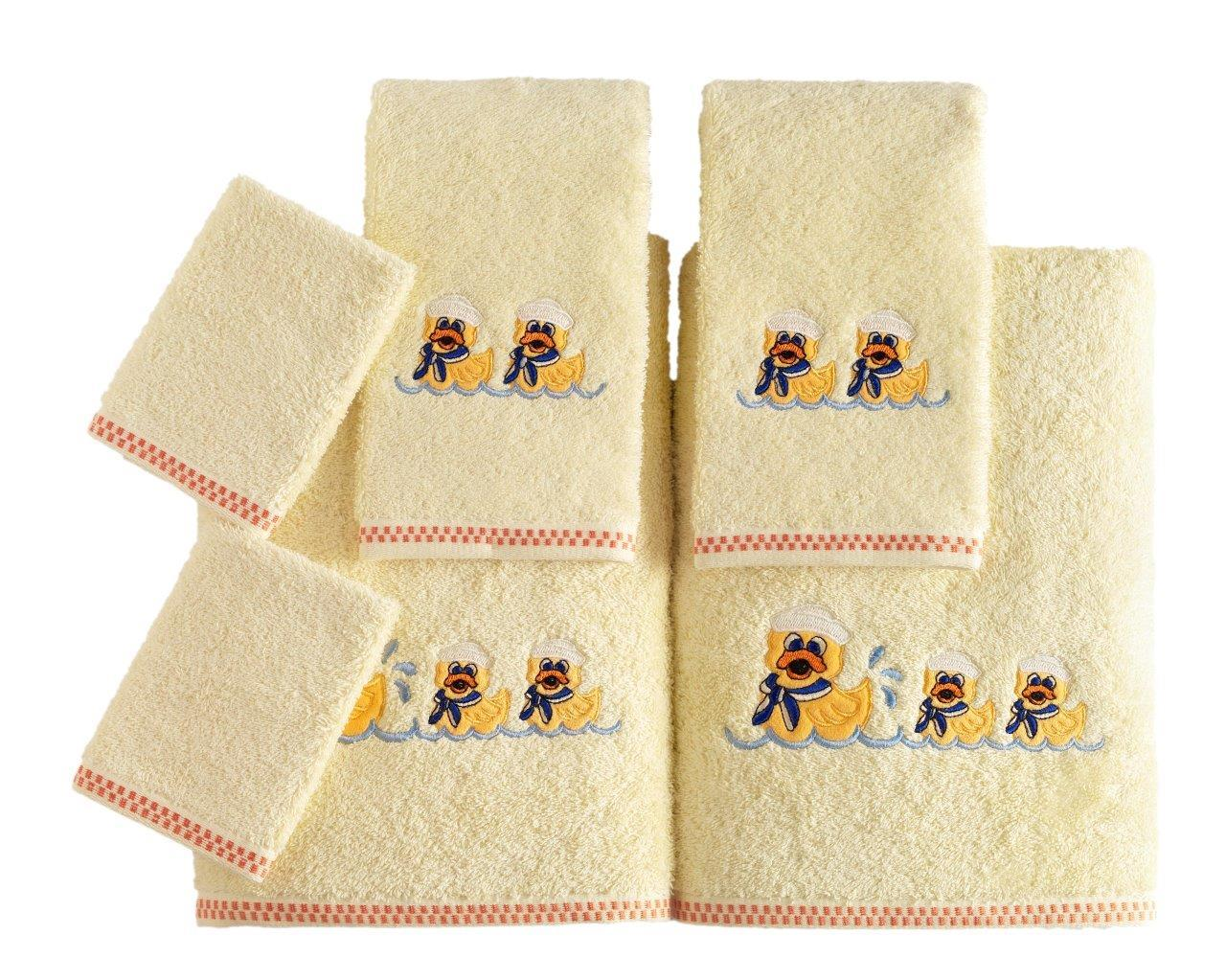 Kids Embroidered Turkish Cotton Towel Sets of 6 (10 Sets)