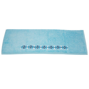 May Embroidered Turkish Cotton Bath Towel - 24 Piece