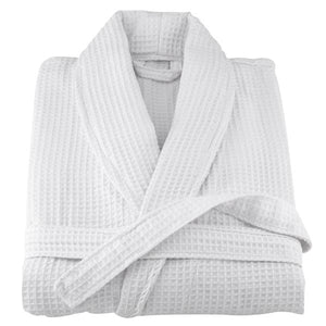 White Waffle Terry Turkish Cotton Bathrobe - 20 Pieces