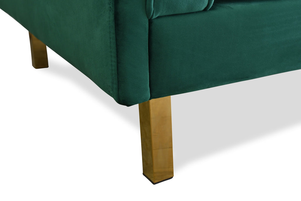 Lexington Velvet Sofa (Green)