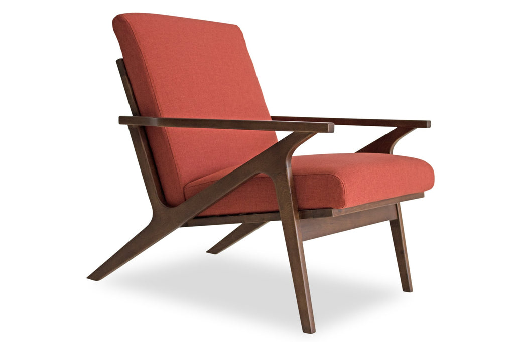 Adalyn Lounge Chair (Red Orange)