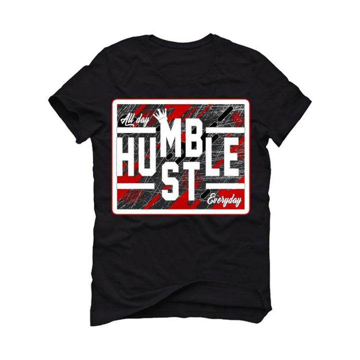 "Aj1 Hi Zoom ""Crater"" Black T-Shirt (always hustle)"
