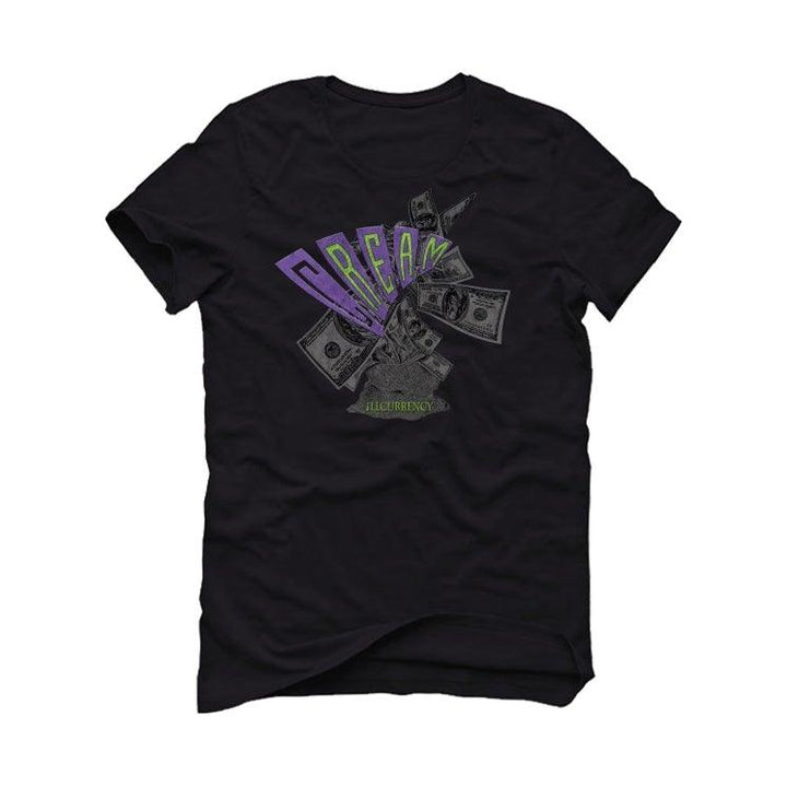 Air Jordan 3 Electric Green Violet Shock 2021 Black T-Shirt (C.R.E.A.M.)
