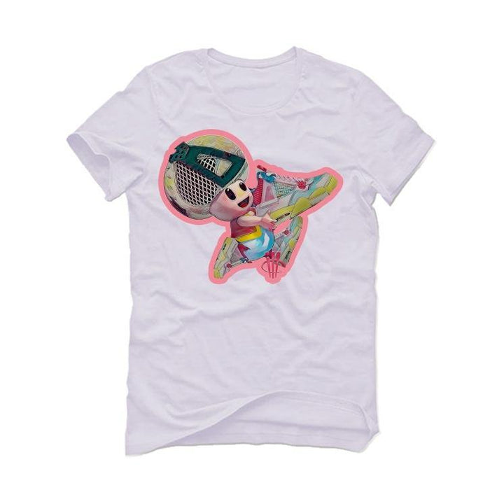 Jordan 4 Retro Union Guava Ice White T-Shirt (TOAD SHOE)