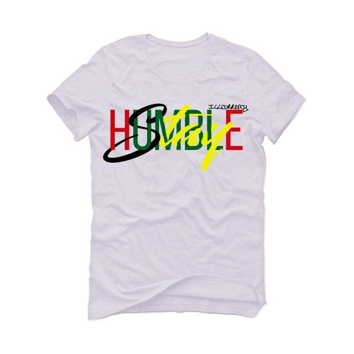 Air Jordan 4 Rasta White T-Shirt (Stay Humble)