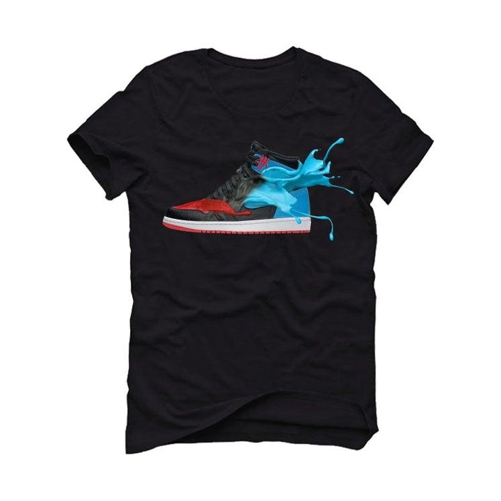 "The Air Jordan 1 ""UNC To CHI"" 2020 Black T-Shirt (NC CHI)"