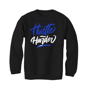 "Air Jordan 1 Retro High OG ""Game Royal"" 2020 Black T-Shirt (Hustle Harder)"
