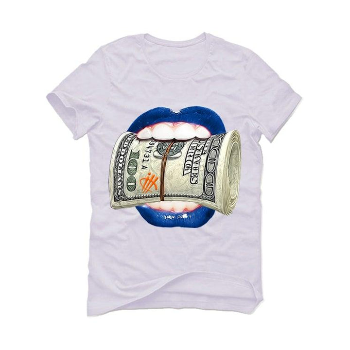 "AIR JORDAN 3 ""KNICKS"" White T-Shirt (lips hundred)"