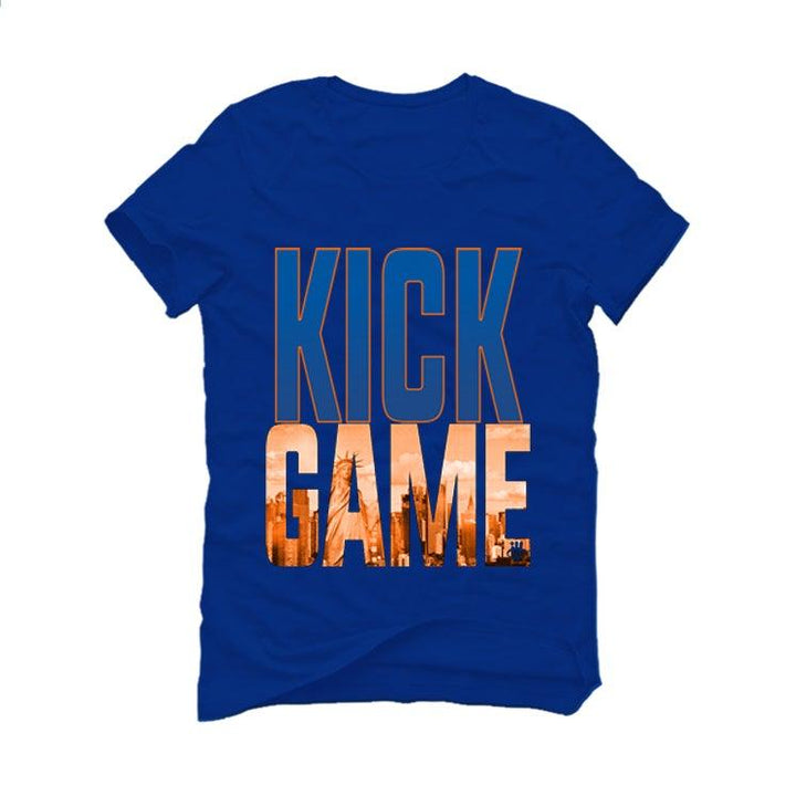 "AIR JORDAN 3 ""KNICKS"" Royal Blue T-Shirt (kick game)"