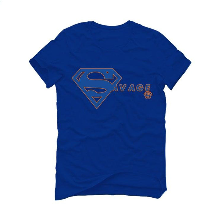 "AIR JORDAN 3 ""KNICKS"" Royal Blue T-Shirt (SUPER SAVAGE)"