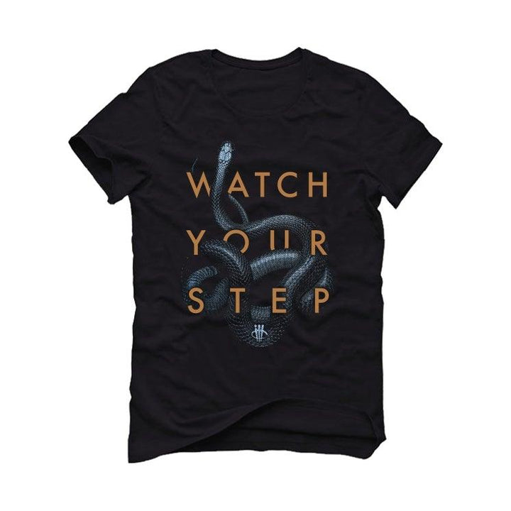 "Air Jordan 6 ""Washed Denim"" Black T-Shirt (Watch Your Step)"