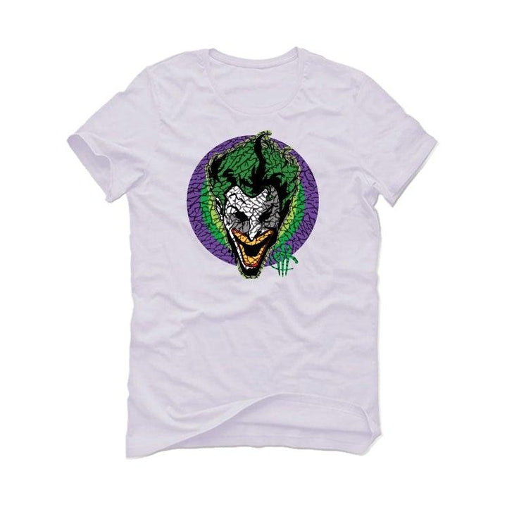 Air Jordan 3 Electric Green Violet Shock 2021 White T-Shirt (joke the joker)