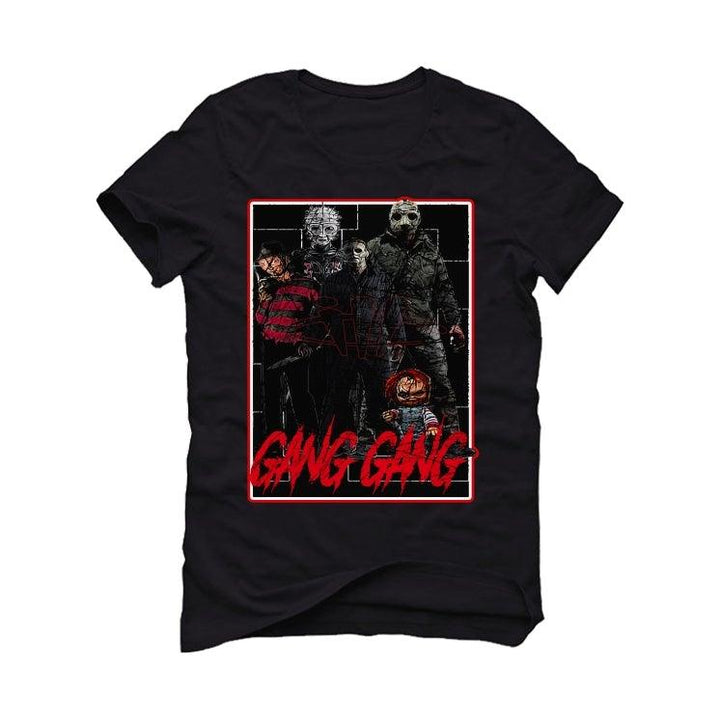 "THE AIR JORDAN 11 BRED""2020 Black T-Shirt (GANG GANG)"