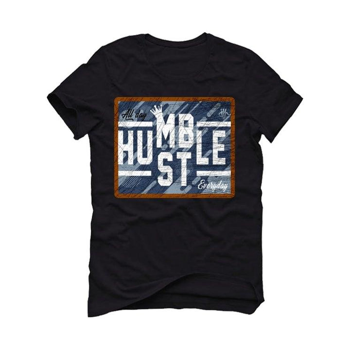 "Air Jordan 6 ""Washed Denim"" Black T-Shirt (ALWAYS HUSTLER)"