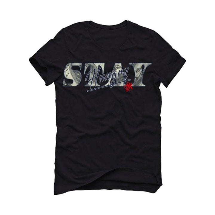 Air Jordan 4 Winter 'Loyal Blue' Black T-Shirt (STAY HUNGRY )