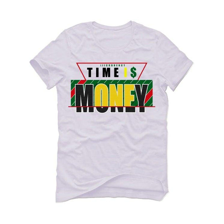 Air Jordan 4 Rasta White T-Shirt (Time is money)
