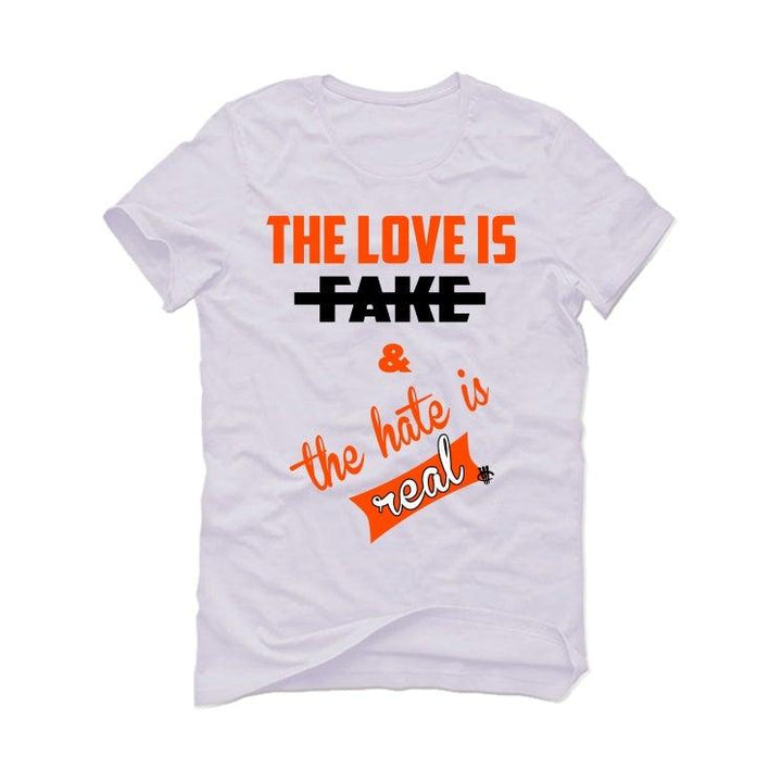 Nike Air Foamposite One Shattered Backboard White T-Shirt (The love is fake)