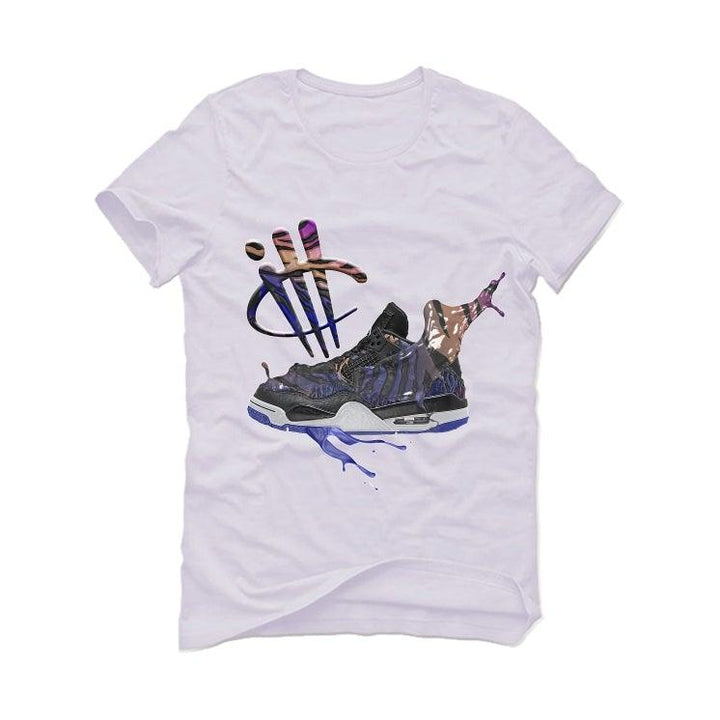 Air Jordan 4 Retro Rush Violet White T-Shirt (SPLASH SHOE)