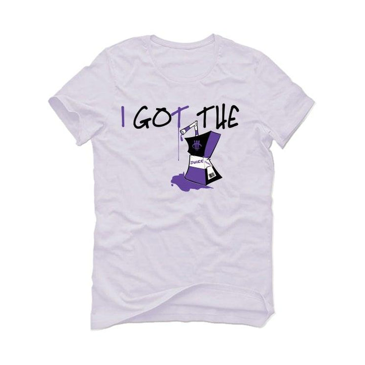 "Air Jordan 1 Retro High OG ""Court Purple"" White T-Shirt (I got the juice)"