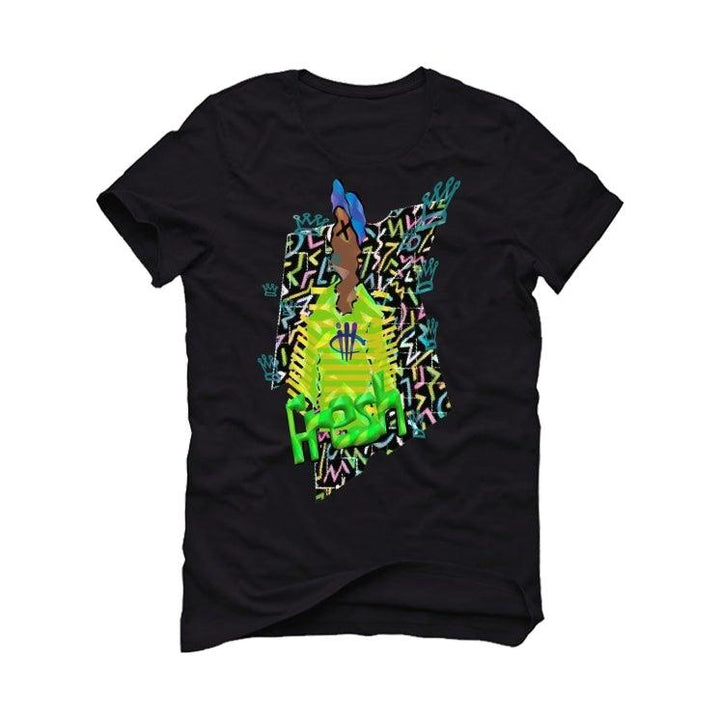 "Air Jordan 5 ""Alternate Bel-Air"" 2020 Black T-Shirt (fresh abstract)"