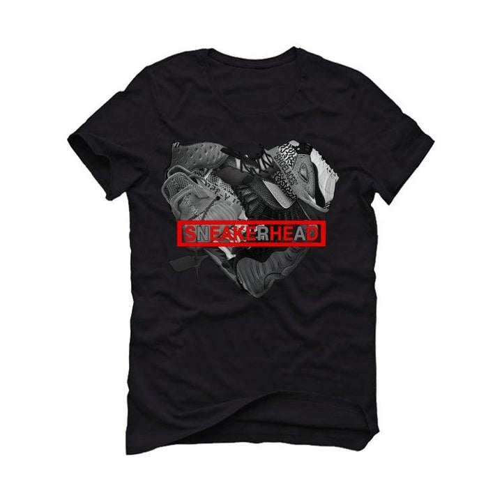 "THE AIR JORDAN 11 BRED""2020 Black T-Shirt (SNEAKERHEAD HEART)"