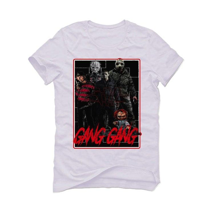 Air Jordan 5 OG Fire Red Silver Tongue 2020 White T-Shirt (GANG GANG)