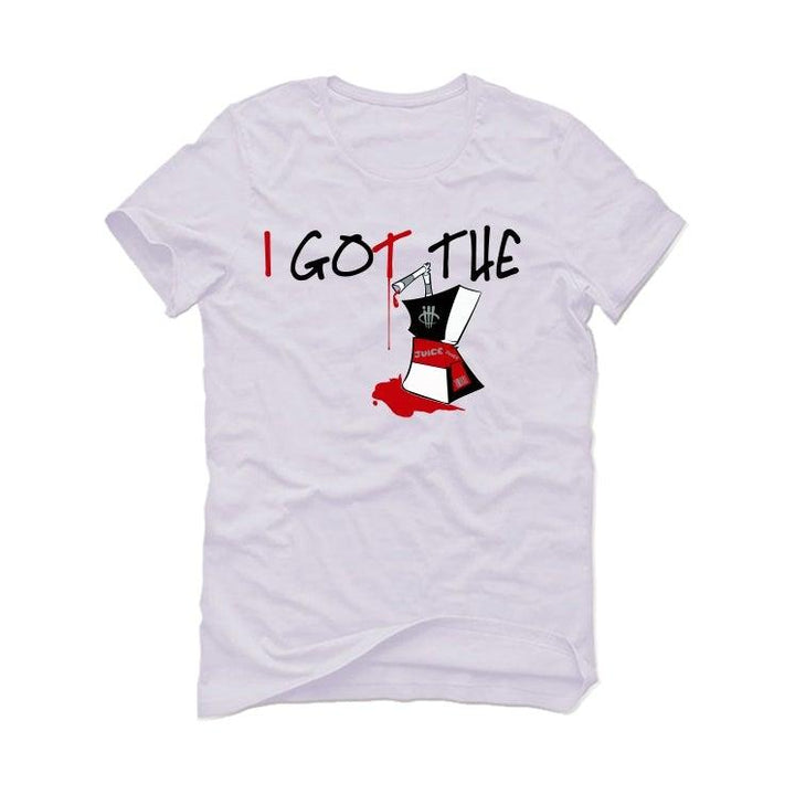 Air Jordan 5 OG Fire Red Silver Tongue 2020 White T-Shirt (I got the juice)