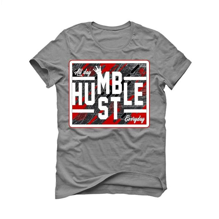 Air Jordan 5 OG Fire Red Silver Tongue 2020 Grey T-Shirt (ALWAYS HUSTLE)