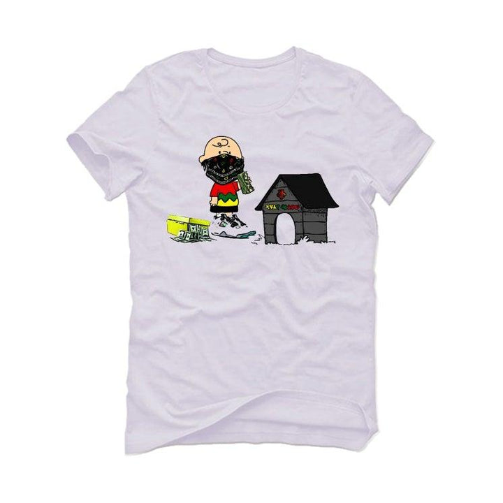 Air Jordan 4 Rasta White T-Shirt (Trap house)