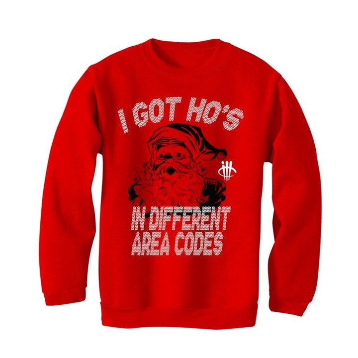 CHRISTMAS UGLY SWEATERS Red sweater (I GOT HO'S)