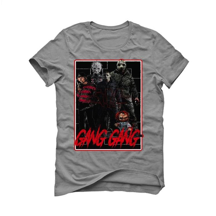 Air Jordan 5 OG Fire Red Silver Tongue 2020 Grey T-Shirt (GANG GANG)