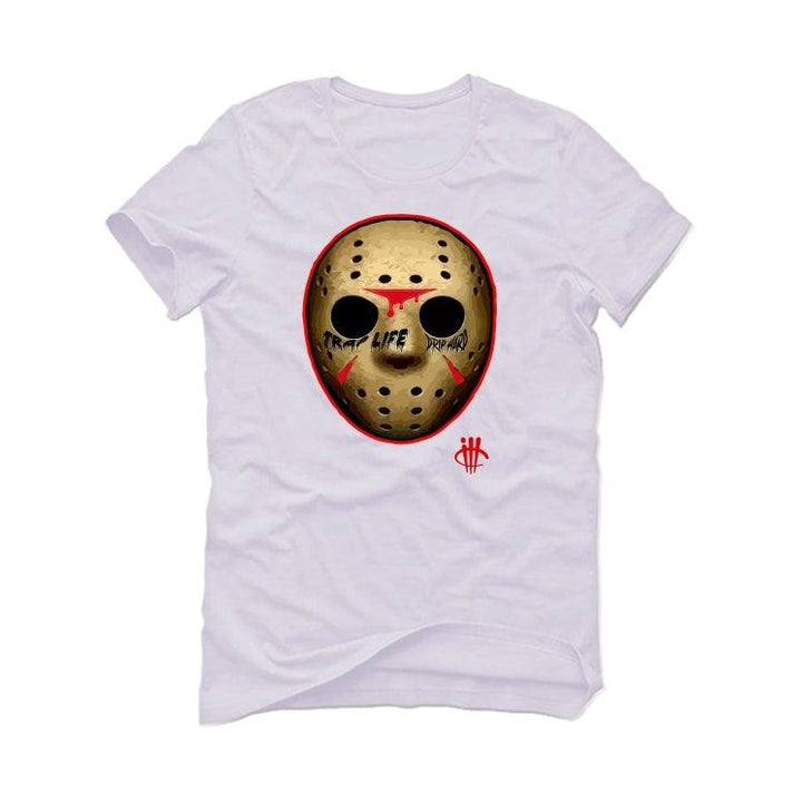 Air Jordan 5 OG Fire Red Silver Tongue 2020 White T-Shirt (ILL MASK)