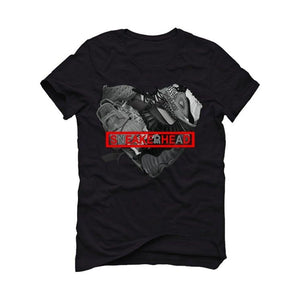 "THE AIR JORDAN 11 ""CONCORD""2020 Black T-Shirt (sneakerhead heart)"