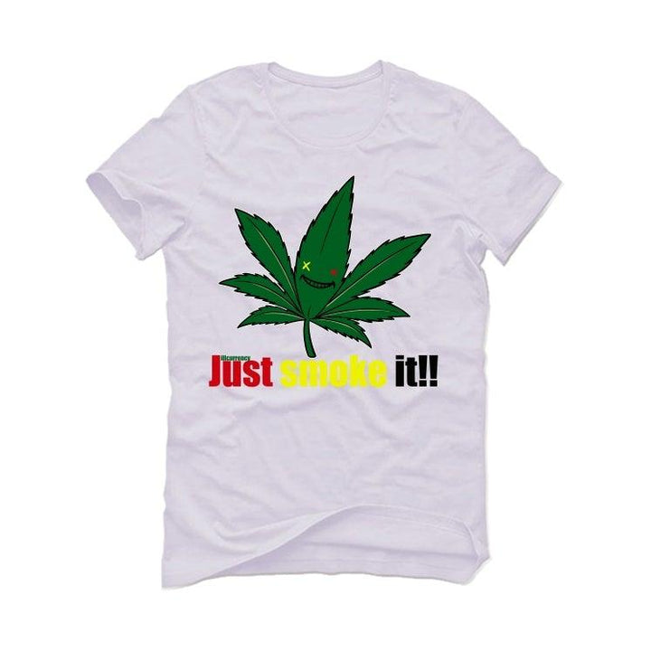Air Jordan 4 Rasta White T-Shirt (Just smoke it!!)