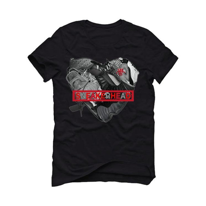 "Aj1 Hi Zoom ""Crater"" Black T-Shirt (sneaker heart)"