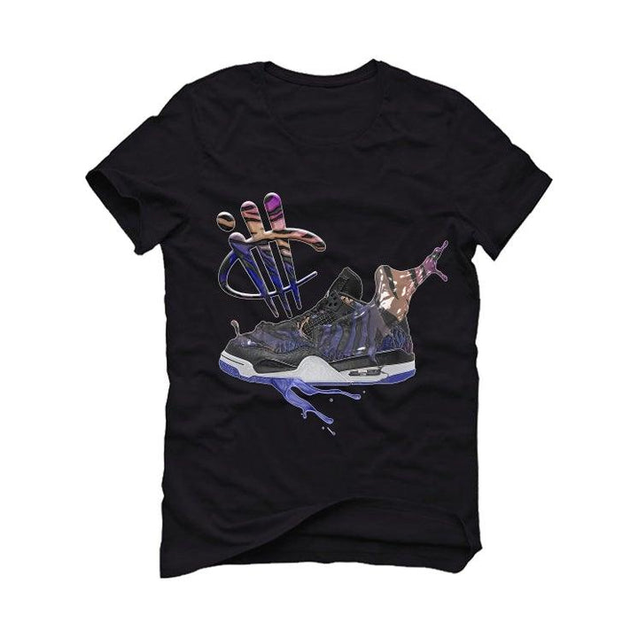Air Jordan 4 Retro Rush Violet Black T-Shirt (SPLASH SHOE)