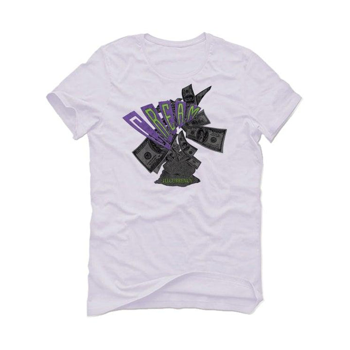 Air Jordan 3 Electric Green Violet Shock 2021 White T-Shirt (C.R.E.A.M.)