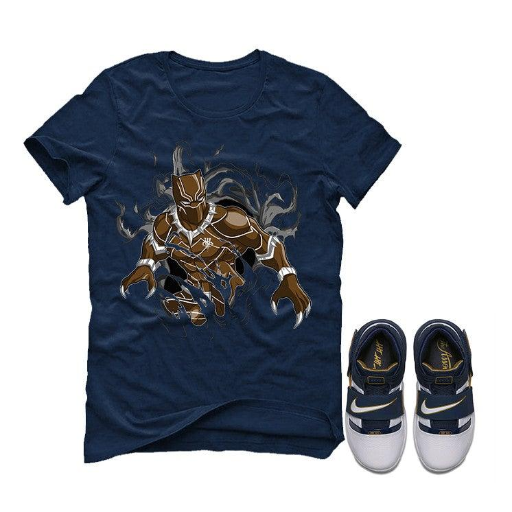 the best attitude 2593e 903a6 Nike Zoom Lebron Soldier 1 25 Straight Navy Blue T (RIP PANTHER)