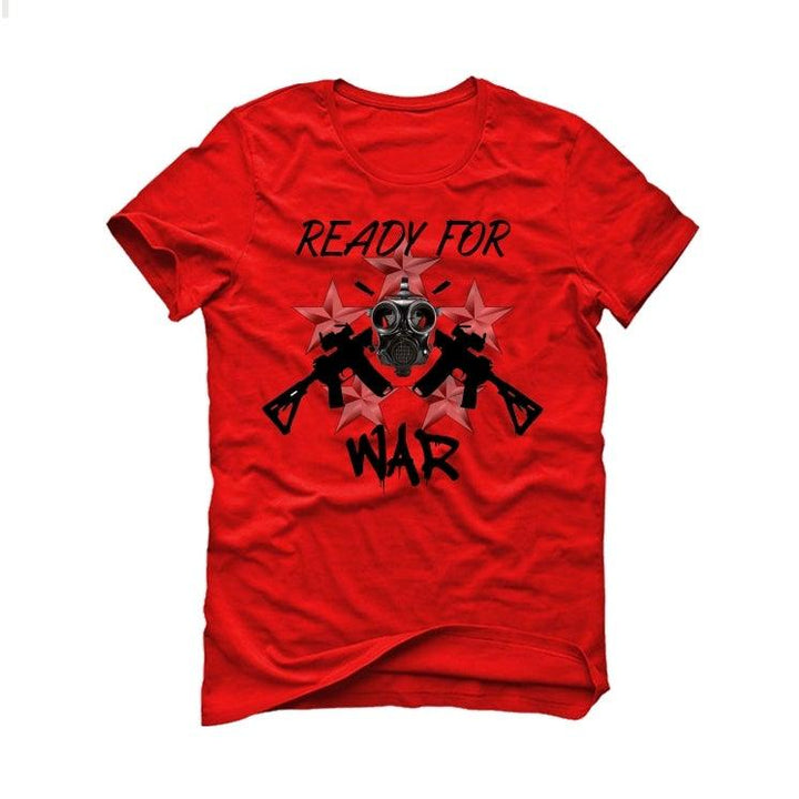 COVID-19 Awareness Collection Red T-Shirt (Ready for war)