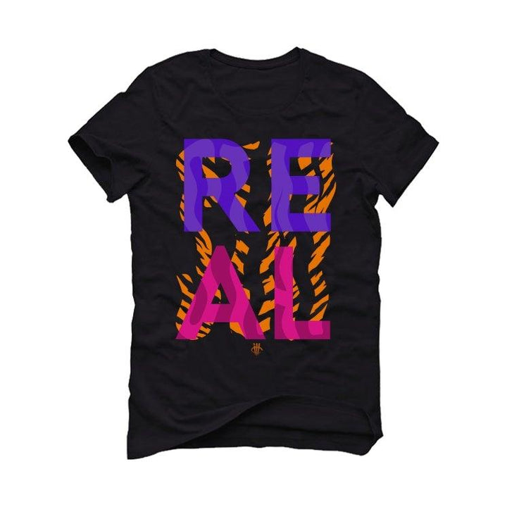 Air Jordan 4 Retro Rush Violet Black T-Shirt (Stay Real)