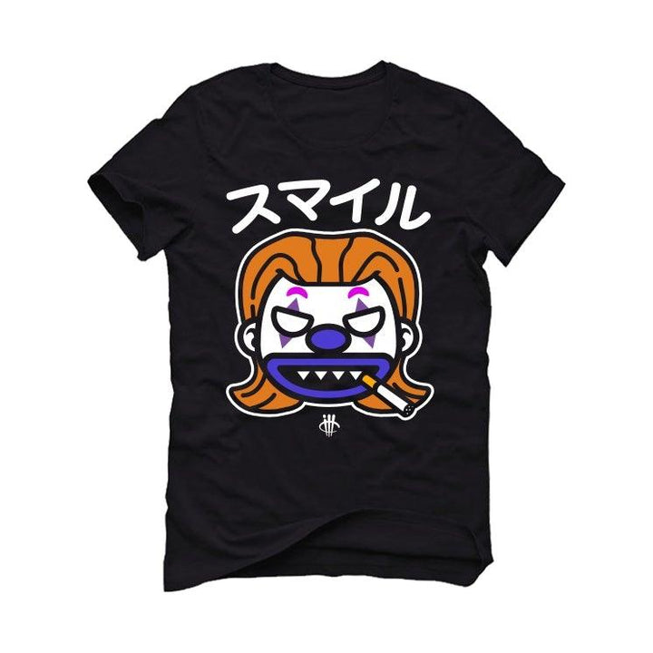 Air Jordan 4 Retro Rush Violet Black T-Shirt (Just Smile)