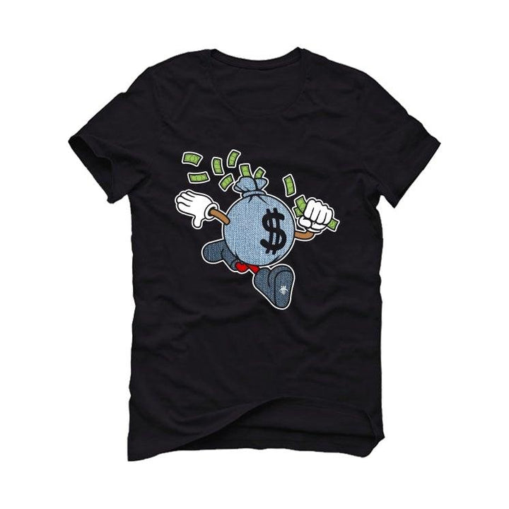 "Air Jordan 6 ""Washed Denim"" Black T-Shirt (Run That)"