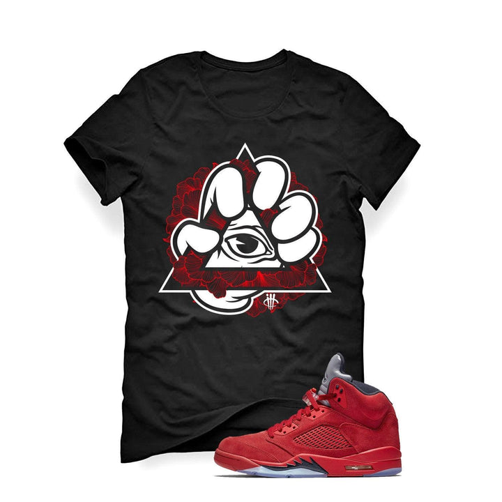Air Jordan 5 University Red Black T (All Lies Bloom)