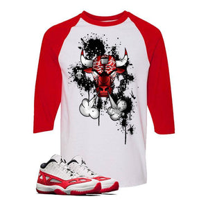 Air Jordan 11 Low IE White And Red Baseball T (BULLY)